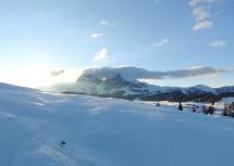 Sonnenaufgang am Plattkofel