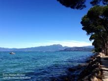 Von Cisano Blick nach Bardolino und Garda