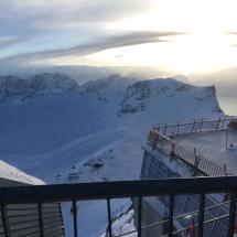 Auf der Aussichtsplattform auf der Zugspitze