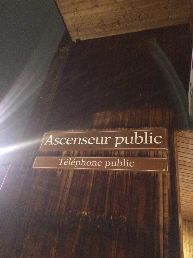 Öffentlicher Aufzug in Avoriaz