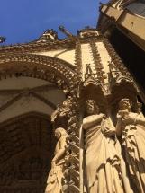 Die Kathedrale von Metz im Sommer 2018