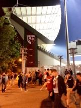 Metz im Sommer 2018 - abends beim Spiel des FC Metz
