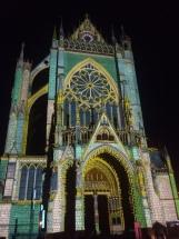 Die Kathedrale von Metz im Sommer 2018 - abendliche Beleuchtung
